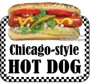 Chicago Style Hot Dog Decal Choose Your Size Food Truck Concession Sticker