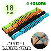 18 Muscle Massage Roller Stick For Fitness Sports Physical Therapy Recovery
