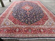 Vintage Traditional Hand Made Rug Oriental Wool Blue Red Large Carpet 520x352cm