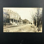 Rppc Womelsdorf Pa. Postcard 1908 East High St. House Horse Buggy Real Photo