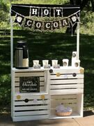Vintage Looking Milk Crate Style Hot Chocolate/cocoa Stand