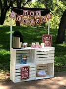Vintage Looking Milk Crate Style Hot Cocoa/hot Chocolate Stand