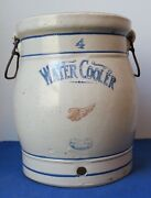 Antique Red Wing Stoneware 4 Gallon Water Cooler With Handles Great Condition
