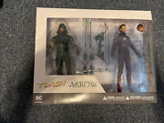 Dc Collectibles Tv Arrow And The Flash Action Figure 2 Pack Dc Direct