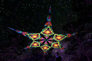 Uv Canopy 6 Petals Fluorescent Psychedelic Trance Ceiling Party Festival Deco