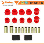 For 1992-1995 Civic Front Upper Lower Control Arm Suspension Bushing Kits Red