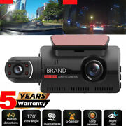 3and039and039 Dual Lens Car Dash Cam Dvr Video Recorder G-sensor 1080p Front And Rear Camera