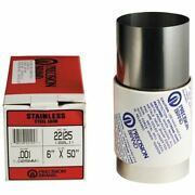 Precision Brand 22972 .10mm 150mm X 1.25m Stainless Steel Metric Shim Stock Roll