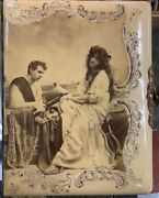 Grecian Lovers Celluloid Cabinet Card And Cdv Album