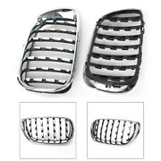 Front Kidney Grille Grill Diamond Mesh Chrome Fit Bmw E46 4 Door 2002-2005 2004