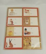 Vintage Lot Of Anne Geddes Gift Tag Christmas Sticker 100 Tags
