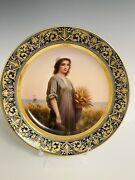 Antique Royal Vienna Porcelain Charger/plate Of Ruth 14andrdquo