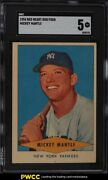 1954 Red Heart Mickey Mantle Sgc 5 Ex