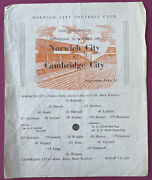 Norwich City V Cambridge City. East Anglian Cup. Wednesday, 5th October 1960