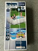 Bestway 9and039 X 6and039 X 33 Rectangular Power Steel Above Ground Swimming Pool And Pump