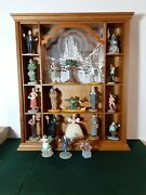 Rare 1988 Franklin Mint Turner- Wizard Of Oz Display Case With 20 Figures