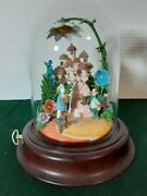 Franklin Mint Wizard Of Oz Musical Glass Dome. Follow The Yellow Brick Road.