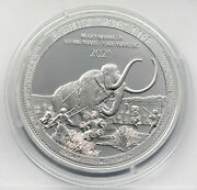 Congo 20 Francs 2021 Prehistoric Life Wooly Mammoth 1oz Silver Coin Ag 999 Unc