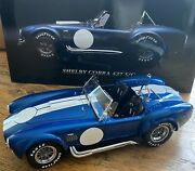 Diecast Shelby Cobra 427 S/c Blue With White Stripe - Kyosho 112 - Nib Collect