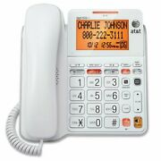 Atandt Cl4940 Corded Phone Answering Machine Backlit Display Extra Large Buttons