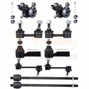 Fits 1994-1999 Toyota Celica 10pc Front Rear Sway Bars Ball Joints Tie Rods Set
