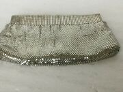 Vintage Whiting And Davis Silver Mesh Evening Bag Clutch 8.75 X 4.5 Guc Usa