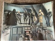 Star Wars Signed Bounty Hunter Photo 6x Prowse Bulloch Harris Hargreaves Parsons