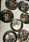 Lot Of 7 Mj Hummel Collector Plate By Danbury Mint New Without Boxes