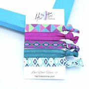 Aztec Patternand039s Bow Knotted Hair Ties- 5 Pack