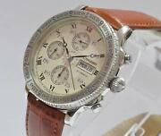 Longines Lindbergh Beige Chronograph Stainless Steel Automatic Men Watch