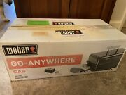 Weber Go Anywhere Portable Black Gas Bbq Grill New Camping Tailgating