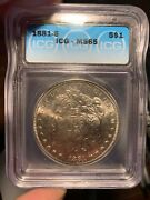 1881-s Morgan Silver Dollar Icg Ms 65. Clean Fields. Solid Strike. Exceptional.
