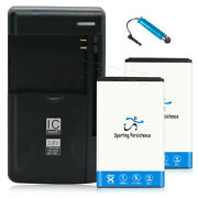 High Quality 2x 1200mah Battery Charger Stylus For Lg Cosmos 3 Vn251s Verizon Us