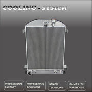 Aluminum Radiator For 1932 Ford Hi-boy Grill Shells Fit Ford Engine Only 3 Row