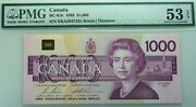 1954 1000 Bank Of Canada Pmg Au 53 - Almost Uncirculated