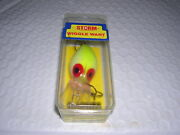 Storm Pre Rapala Wiggle Wart V89 Pearl/chart Back Red Throat Collector Mint Nib
