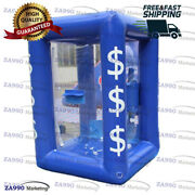 6.6ft Inflatable Cash Cube Money Machine Advertising Promotion 2 Air Blower