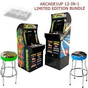 Arcade1up 12-in-1 Asteroids Centipede Deluxe Edition W/ 2 Stools Deck Protector