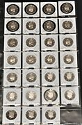 1992 - 2018 Silver Proof Kennedy Half Dollar 90 Silver Proof Set 27 Coins