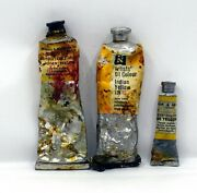 Indian Yellow - Vintage Oil Paint Lot - Winsor And Newton