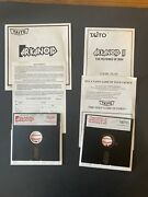 """Arkanoid And Arkanoid 2the Revenge Of Doh Commodore 64 5.25"""" Disc With Manuals Jl"""