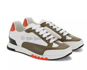 New In Box Sold Out Authentic Hermes Trail Sneakers Blanc/nokcha/orange 41.5