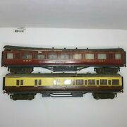 O Scale Wooden Train Kits Dining And Sleeping Cars Lot Of 2  Repair/ Restoration