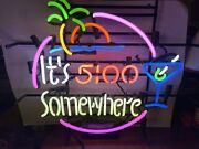 Itand039s 500 Some Where And Palm Led Neon Sign Art Wall Lights For Beer Bar Club