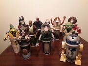 11 Vintage Star Wars Cups 90s Taco Bell/kfc/pizza Hut Cup Toppers Collectors