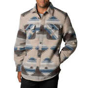 Jachs Menandrsquos Patterned Wool Blend Shirt Jacket Fully Lined Fast Shipping