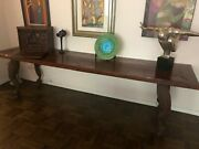Amazing Wood Table With Hand Made Metal Legs