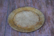 Primitive Old Antique Wooden Round Plate
