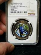 2007 Birds Of Canada 25 Cent Red Brested Nuthatch Ngc Sp 69