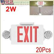 20pack Led Exit Sign Emergency Lightandndashhi Output Compact Combo Ul Listed Red Fire